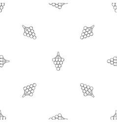 green grape pattern seamless vector image