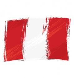 Grunge Peru flag vector