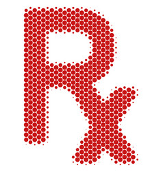 Halftone dot rx symbol icon vector