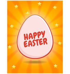 Happy easter greetings vector