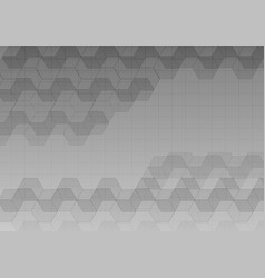 Hexagon and straight line gray abstract background vector