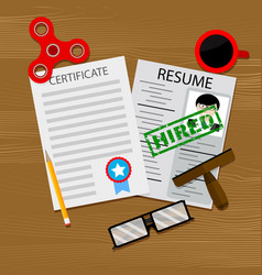 hiring qualified specialist with graduate vector image