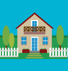 house flat design vector image