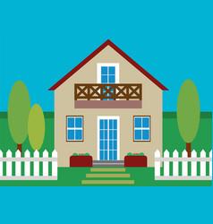 House flat design vector