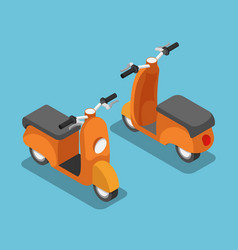 isometric orange scooter or motorcycle vector image