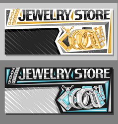 Layouts for jewelry store vector