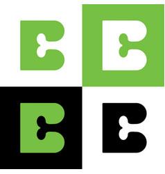 Letter b and bone logo icon design vector