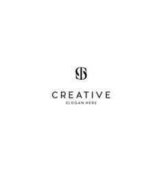 Letter st creative business logo design vector
