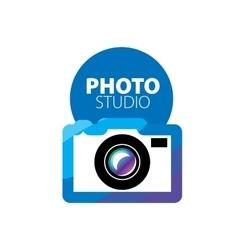 logo for photo studio vector image