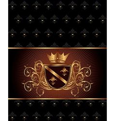 Luxury vintage frame template vector