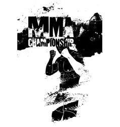 Mma championship vintage grunge style poster vector