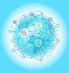 Modern global network abstract svheme vector
