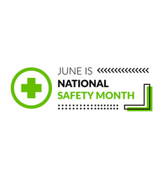 National safety month vector