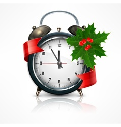 New Year clock on white vector