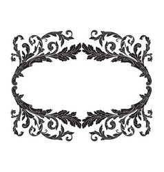 Ornament frame border vector