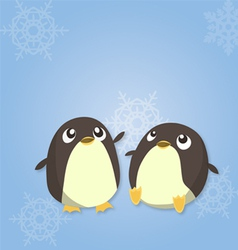 Penguin duo vector image