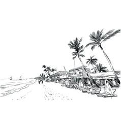 Philippines beautiful tropical island resort vector