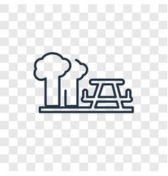 picnic concept linear icon isolated on vector image