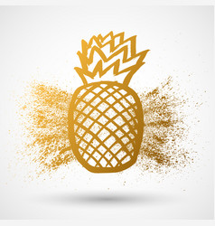 pineapple tropical fruit grunge object health vector image