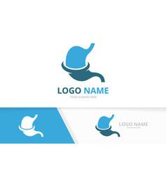 Premium stomach logo gastroenterology logo vector