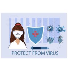 Protect from virus stop coronavirus pneumonia vector