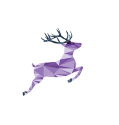 Purple deer of triangle shapes vector