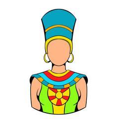 Queen egypt icon cartoon vector