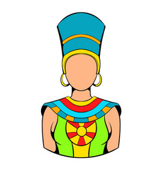 Queen of egypt icon cartoon vector