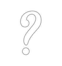 question mark sign black dotted icon on vector image