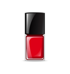 red nail lacquers contained in bottle vector image