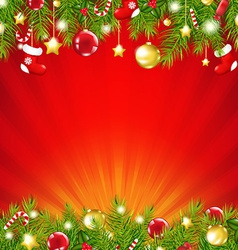 Red Xmas Sunburst Card vector image