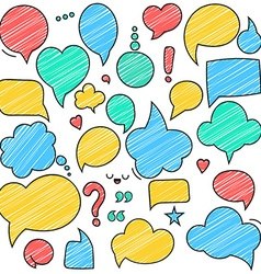retro colored speech bubbles Empty bladder vector image
