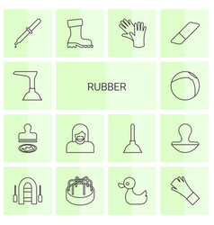 Rubber icons vector