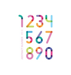 Set of color figures with effect of transparency vector