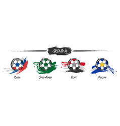Set of football or soccer national team group a vector