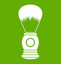 shaving brush icon green vector image