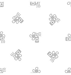 Smart home fan pattern seamless vector