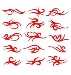 Tribal tattoo element set vector