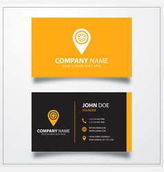 Tyre with pin icon business card template vector