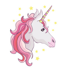 Unicorn icon isolated on white head portrait vector