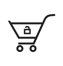 Unlock Cart vector image