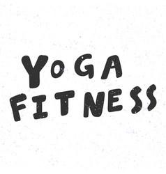Yoga fitness sticker for social media content vector