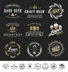 Collection of 9 Beer Logos vector image vector image