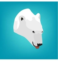 polar bears head on a blue background Eps 10 vector image