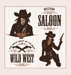 set of hipster vintage labels logotypes badges vector image vector image