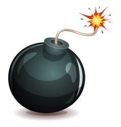 bomb about to blast vector image vector image
