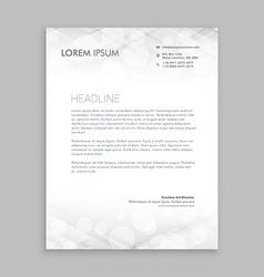 classic white letterhead design vector image vector image