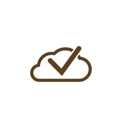 Cloud select icon Cloud click symbol vector image