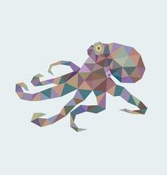 Octopus low poly vector image