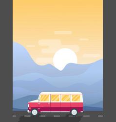 road trip vector image